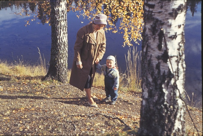 Mor og Bjørn på Maihaugen