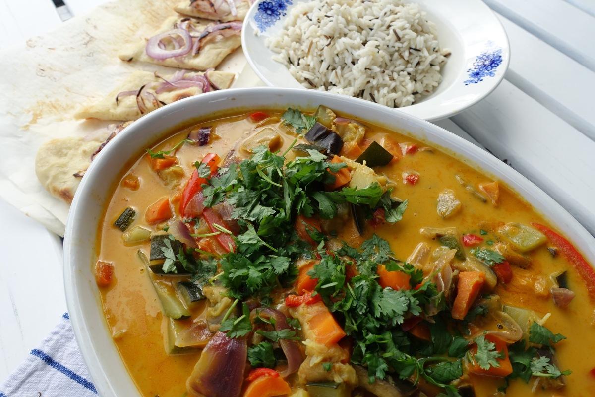 Vegetarisk currygryte